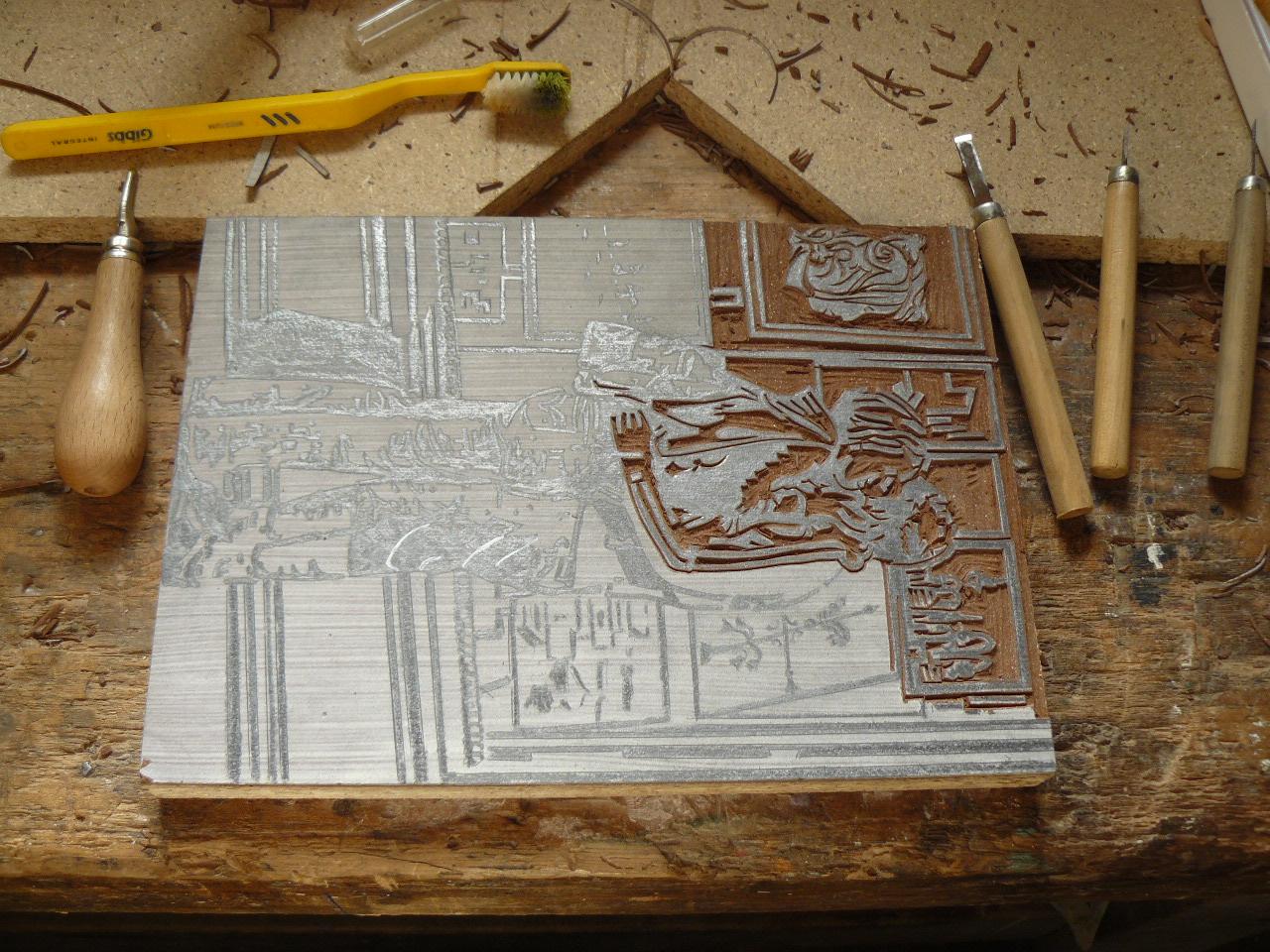 techniques de linogravure gravure sur linoleum et gravure. Black Bedroom Furniture Sets. Home Design Ideas