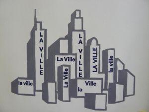linogravure de la ville