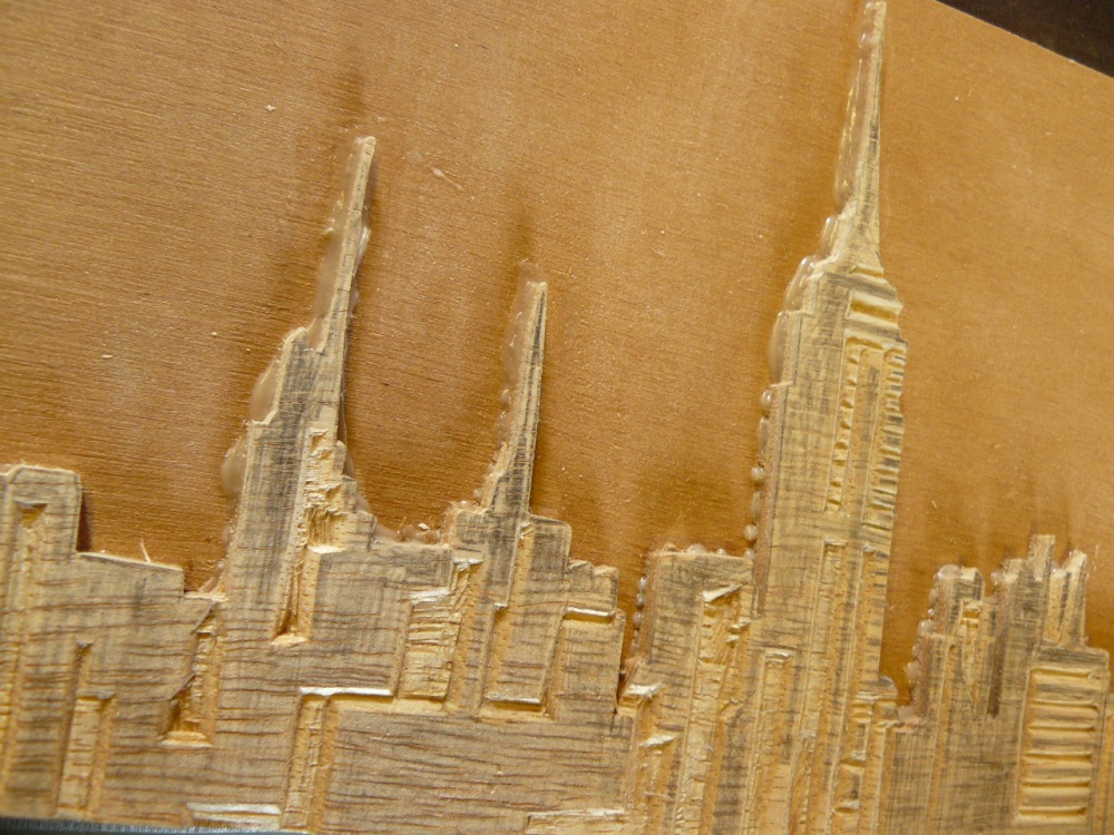 bois gravé : New York *** woodcut New York (4/6)