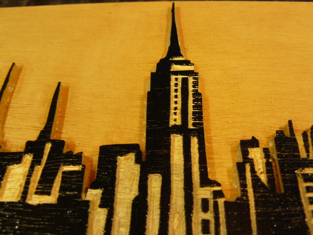 bois gravé : New York *** woodcut New York (5/6)