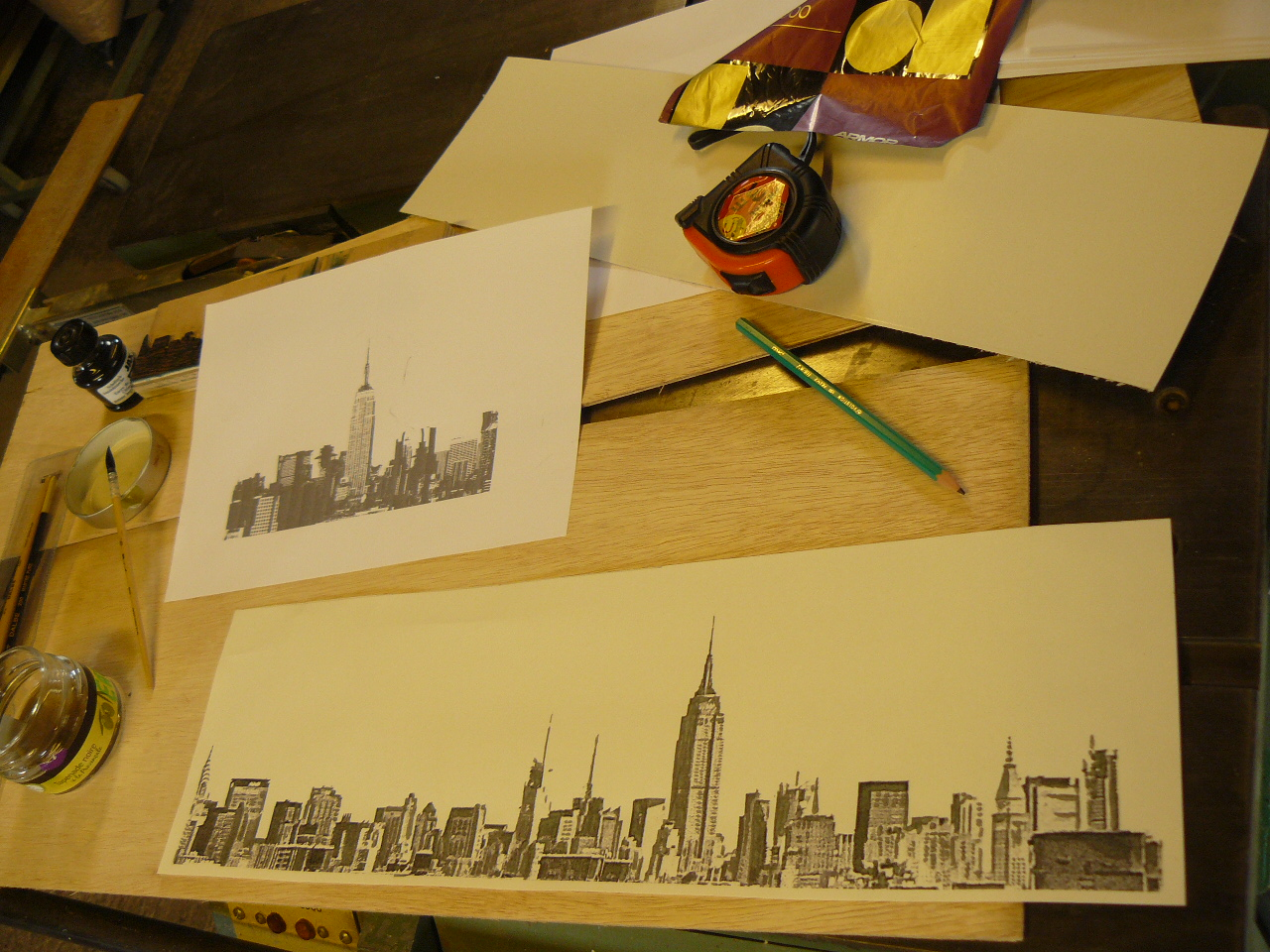 bois grav new york woodcut new york jean pierre coasne linogravure linocut. Black Bedroom Furniture Sets. Home Design Ideas