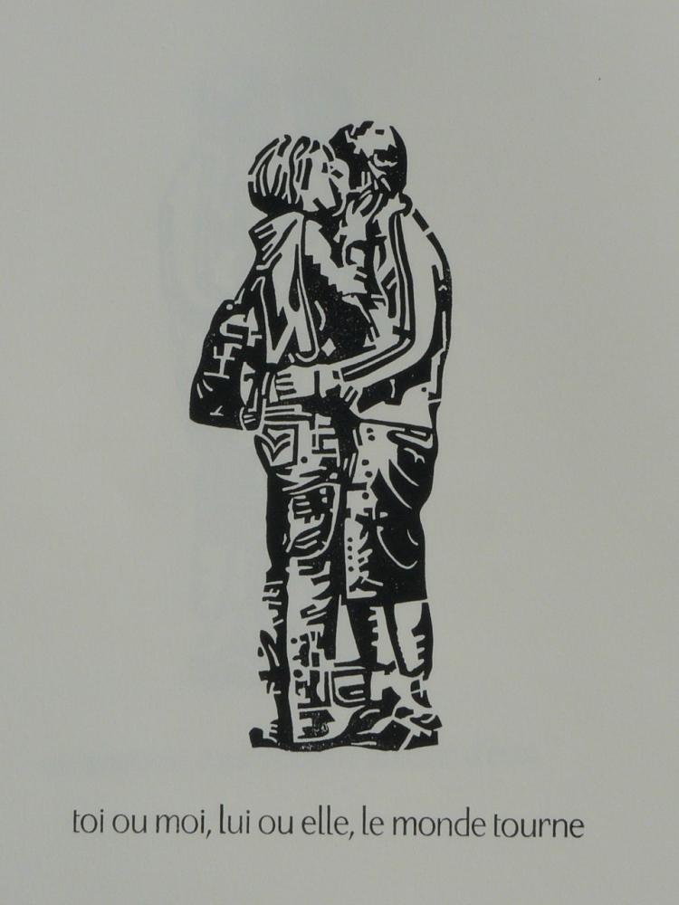 rencontre amoureuse en 5 linogravures (4/5)