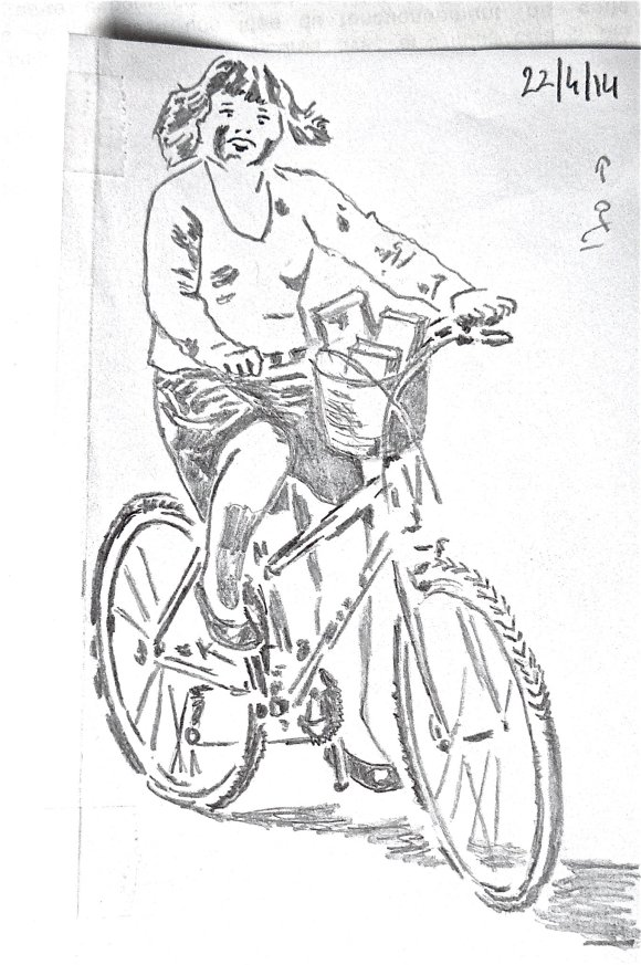 lectrice à vélo