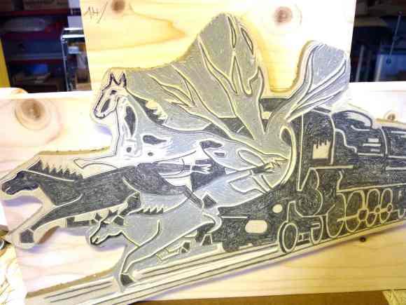 début gravure chevaux