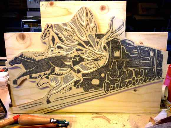 gravure chevaux 2