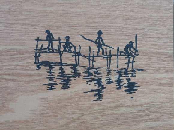 solidarité tirée sur bois