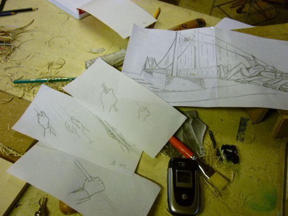 dessins pont tiré