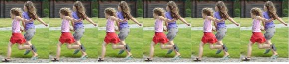 les filles courent