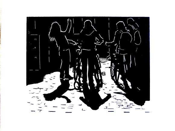 vélos à contre jour